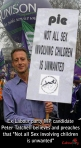 Peter Tatchell with Unison in the background (Labour25)