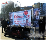 Parents Against Paedophiles (P.A.P) Outside the BBC Studios 2012