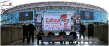 Parents Against Paedophiles (P.A.P) Outside Wembley Stadium 2012 (A)