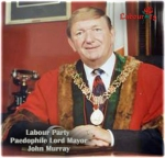 John Murray in mayor regalia
