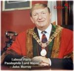 John Murray in mayor regalia