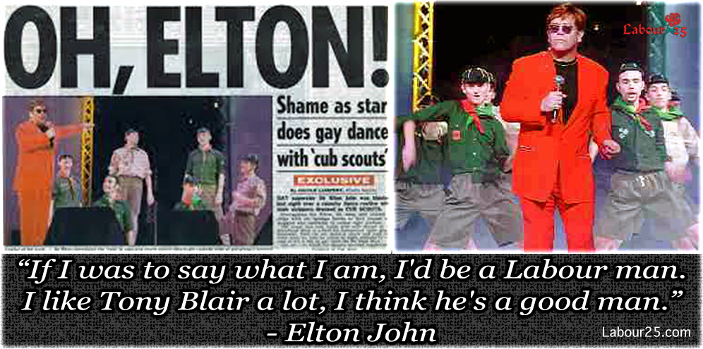Elton John does Gay dance with cub scouts | labour25