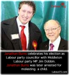 Jonathan Burns with MP Jim Dobbin